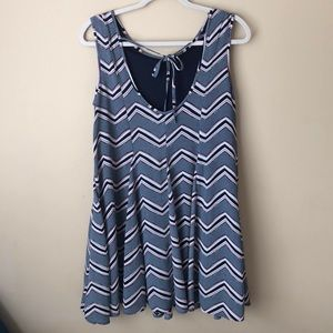 fab'rik Chevron Print Scuba Dress
